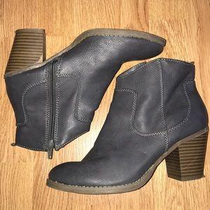 Dark Grey Ankle Boots